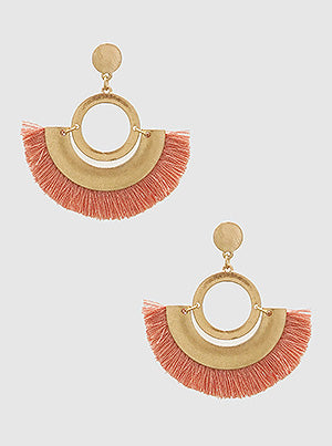 Crescent Pink Earrings
