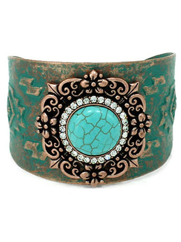 Turquoise Texture Cuff
