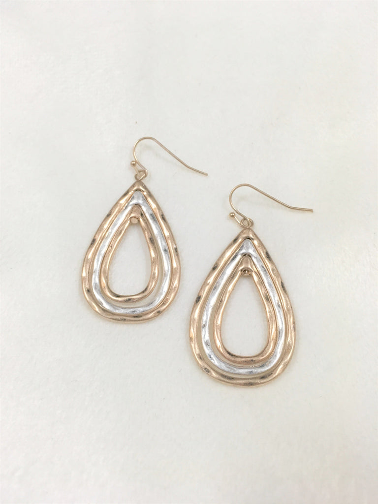 Two Toned Metal Earrings