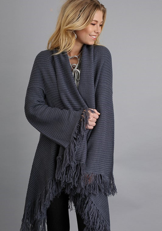 Gray Cozy Cardigan
