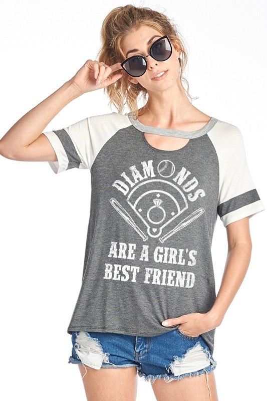 Diamonds Are A Girl's Best Friend Tee