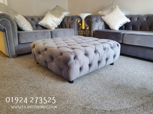 Square Chesterfield Sofa Footstool - Furniture Imports LTD