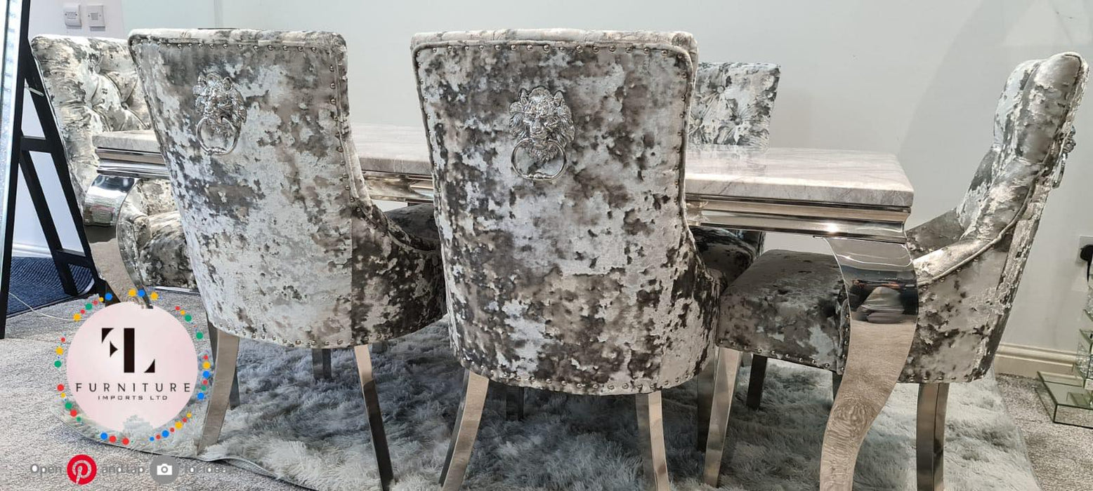 Danetti Lustro Crush Imperial Marble Dining Set