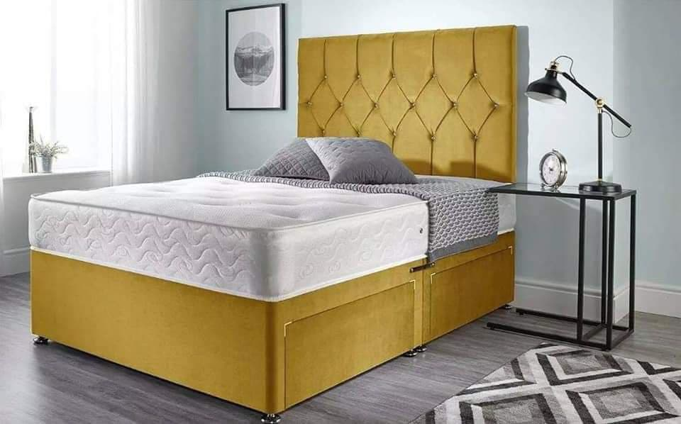 DIAMOND STYLE DIVAN BED WITH/WITHOUT DRAWS