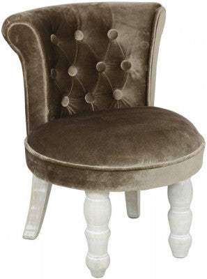 Chocolate Florence Upholstered Fan Back Stool - BESPOKEZ