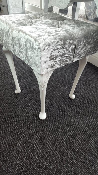 CRUSHED VELVET DRESSING STOOL