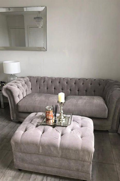French Velvet Chesterfield Range