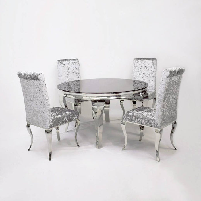 the latest cdfb4 02c57 The Imperial Dining Set Plus Crushed Velvet & French Velvet Dining Chairs
