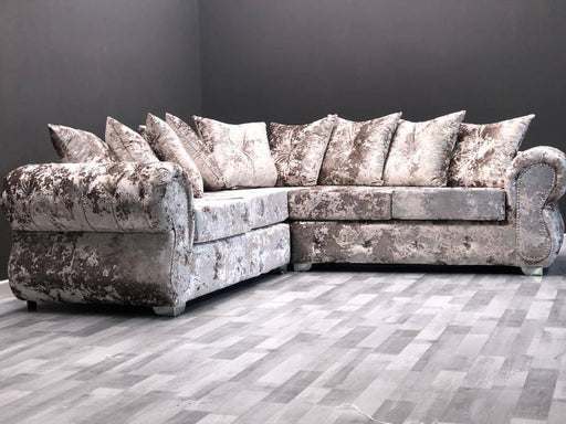 RINO LUSTRO CRUSHED VELVET SOFA RANGE - Furniture Imports LTD