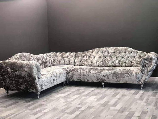 FABRAGE LUSTRO CRUSHED VELVET SOFA RANGE - Furniture Imports LTD