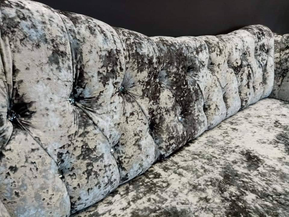 DUNKIRK AREOLI LUSTRO CRUSHED VELVET SOFA RANGE - Furniture Imports LTD