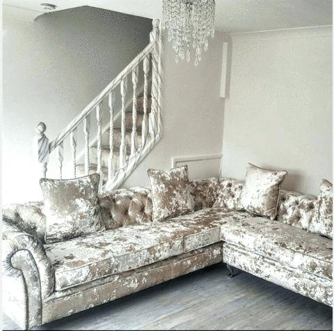 RICHMOND'S CHESTERFIELD LUSTRO CRUSHED VELVET SOFA RANGE