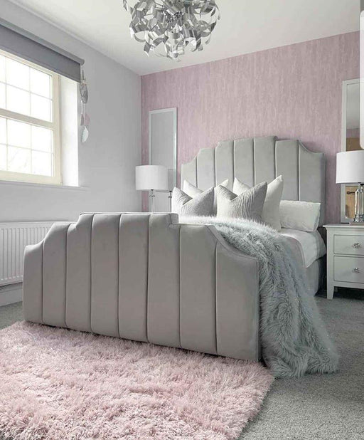Lucy Bedframe In Plush Velvet - Furniture Imports LTD