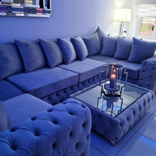 ASHTON FRENCH VELVET U CORNER SOFA RANGE - Furniture Imports LTD