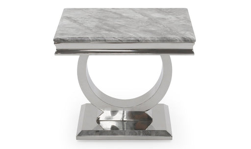 Arianna Grey Marble Lamp Table