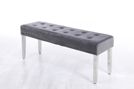 Majestic Dining Table Bench - Chrome Legs - Matches with Majestic Range