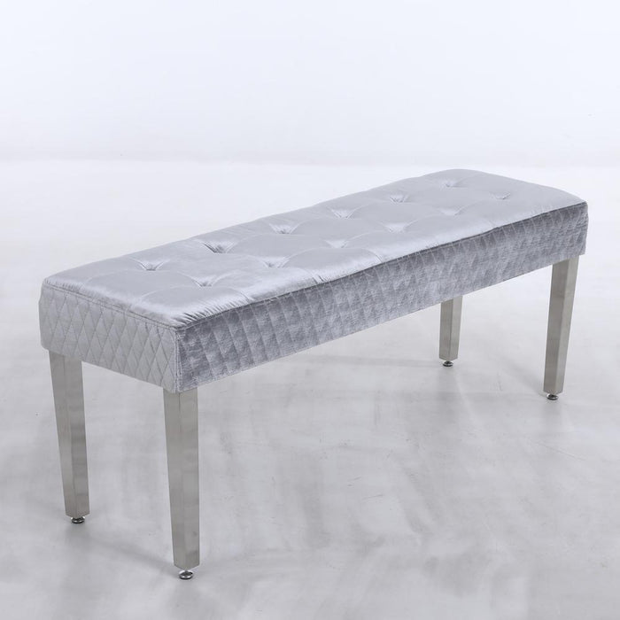 Majestic Dining Table Bench - Chrome Legs - Matches with Majestic Range - Furniture Imports LTD