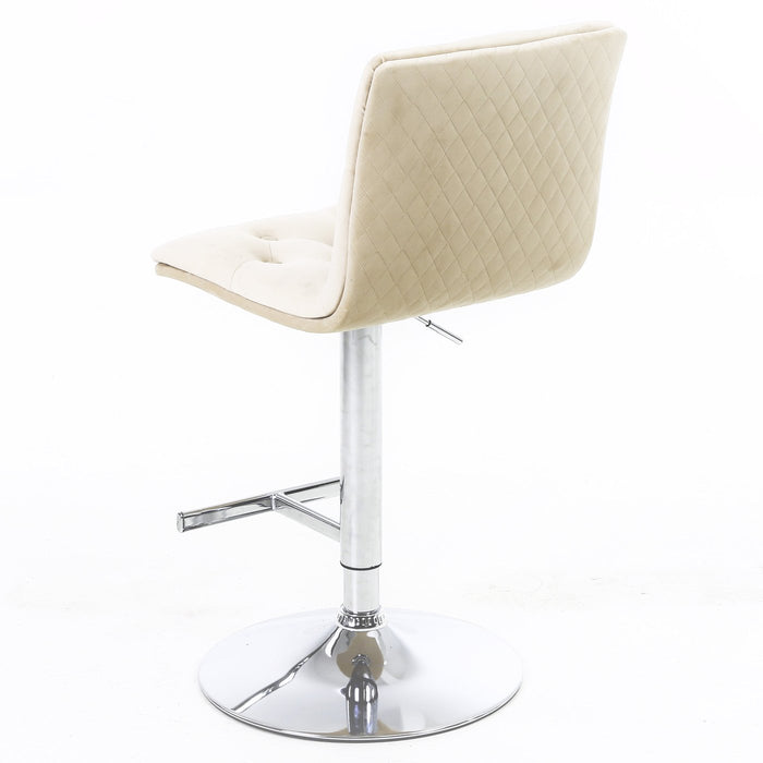 Elegant Plush Velvet Fabric Barstool - Furniture Imports LTD