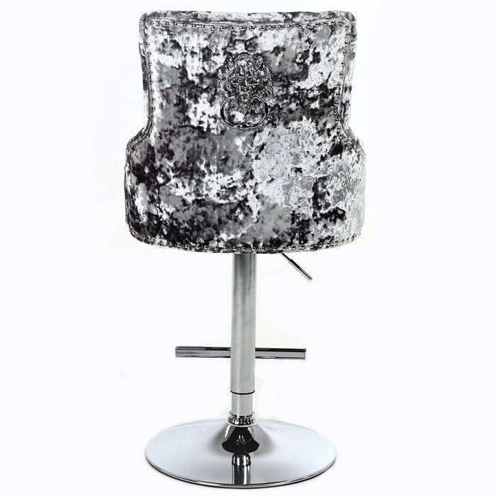 Aries Double Crushed Velvet Barstool - Furniture Imports LTD