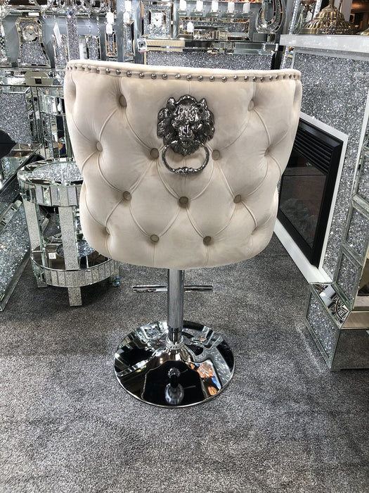 Valentino Luxury Lion KnockerBack Barstool - 4 Colours - Furniture Imports LTD