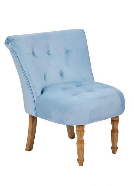 LYDIA 'BOUDOIR STYLE CHAIR - SINGLE SILVER PLUSH VELVET