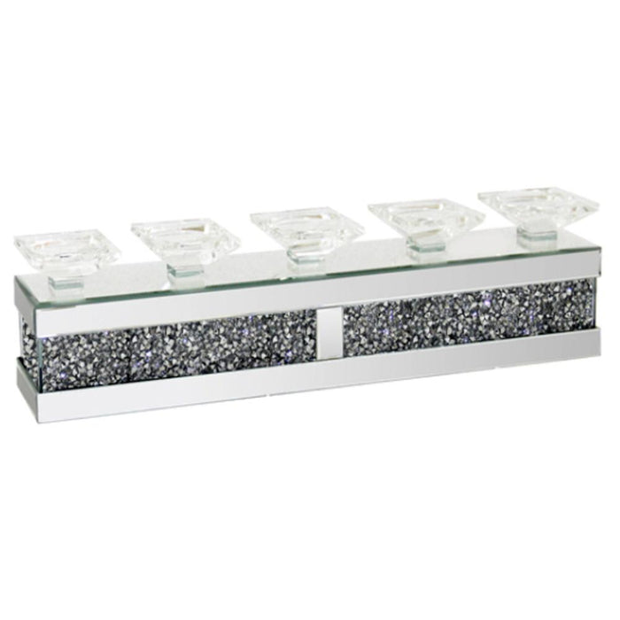 Crushed Diamond 5 Candle Holder - Furniture Imports LTD