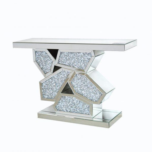 Crushed Diamond Console Table - Furniture Imports LTD