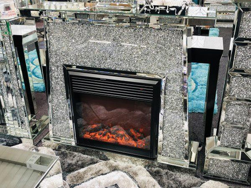 Crushed Diamond Fire Place - Furniture Imports LTD