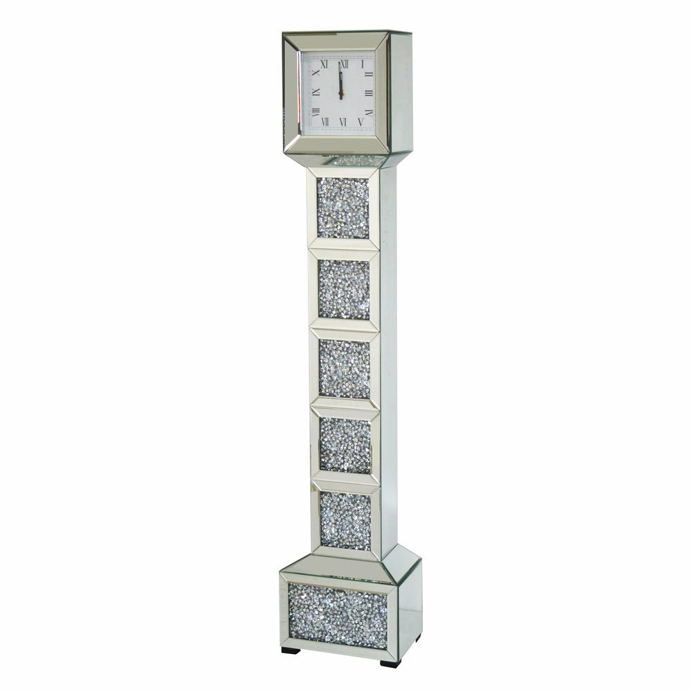 Crushed Diamond Floor Clock - Furniture Imports LTD