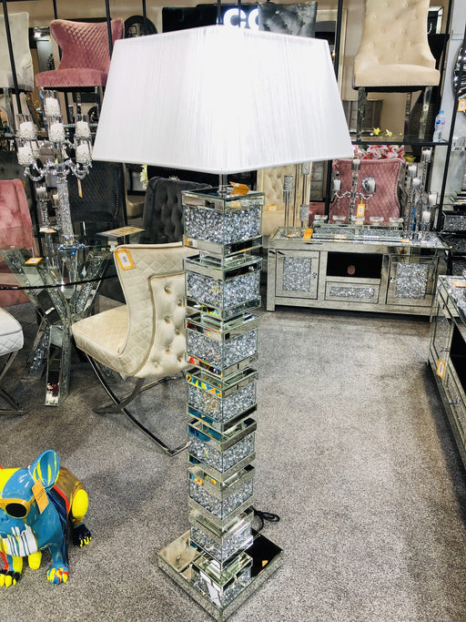 Crushed Diamond Layers Floor Lamp - Furniture Imports LTD