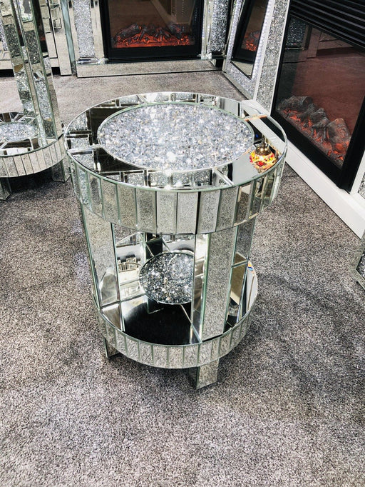 Crushed Diamond Side Table Small - Furniture Imports LTD