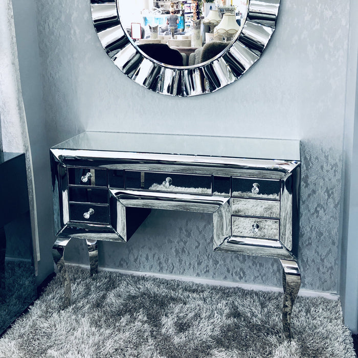 Curved Mirrored Dresser - Furniture Imports LTD