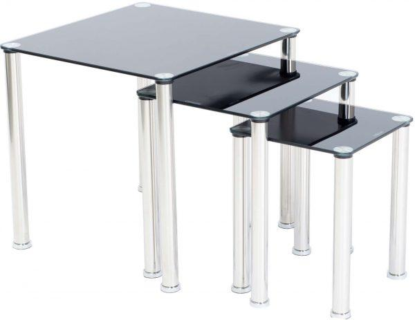 Crystal Nest of Tables - Furniture Imports LTD