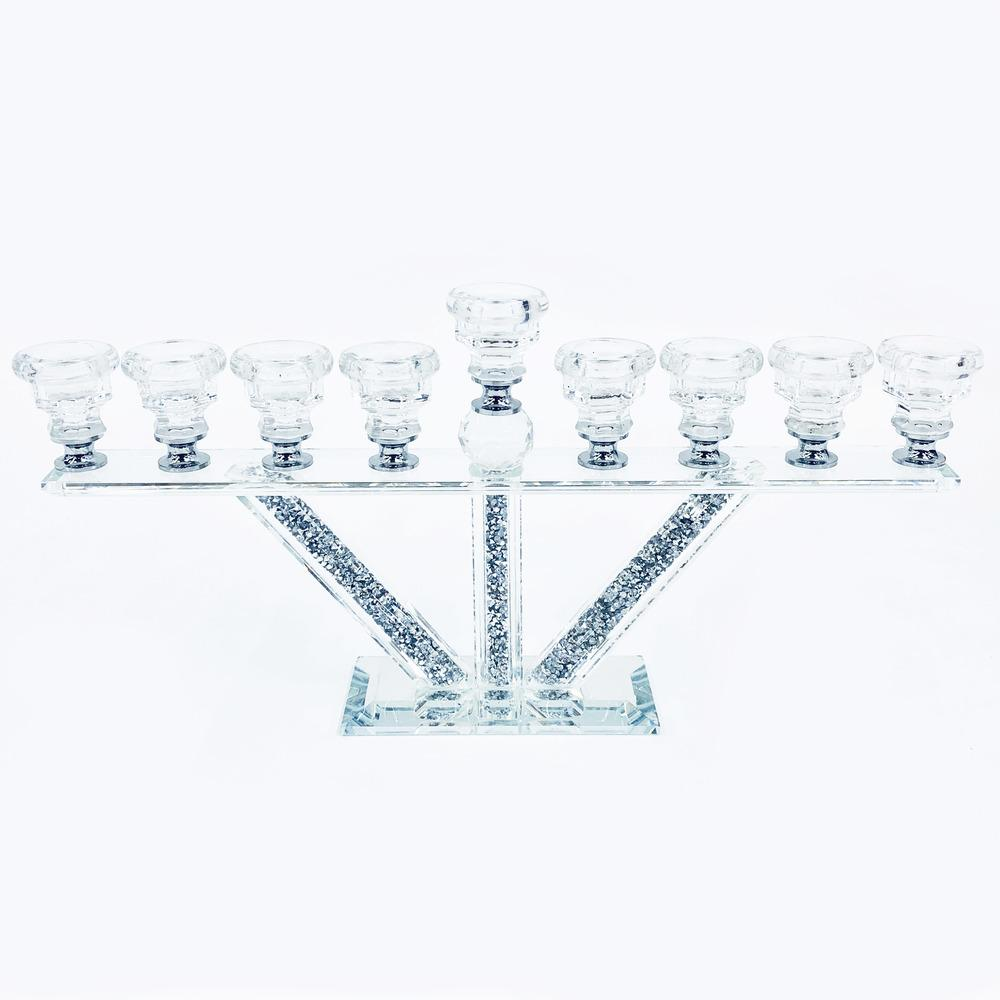 Crystal Crushed Candle Holder - Furniture Imports LTD