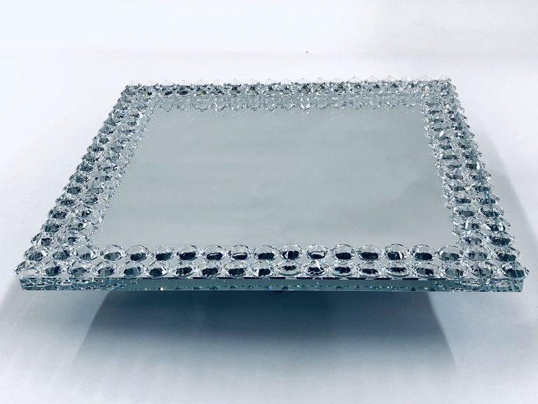 Crystal Cake Tray Small - Furniture Imports LTD