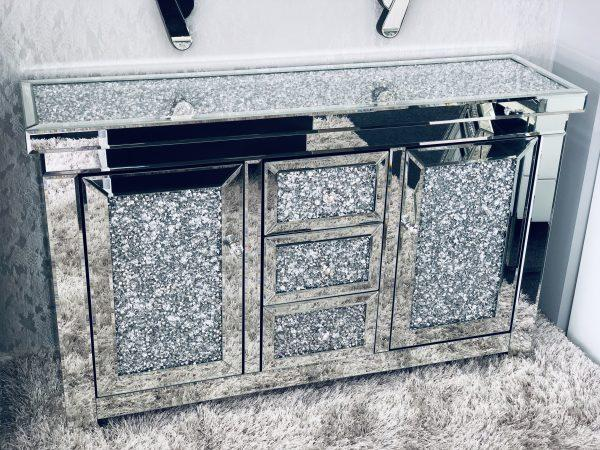 Crushed Diamond Sideboard - Furniture Imports LTD