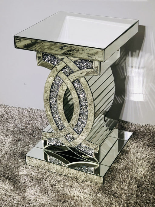 Crushed Diamond CC Side Table - Furniture Imports LTD