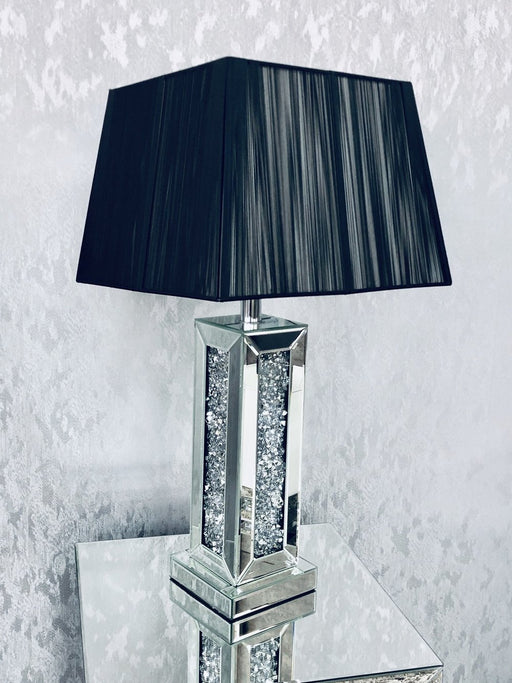 Crushed Diamond Square Lamp - Furniture Imports LTD