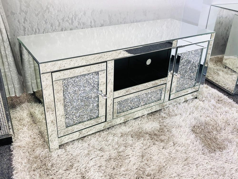 Crushed Diamond TV Unit - Furniture Imports LTD