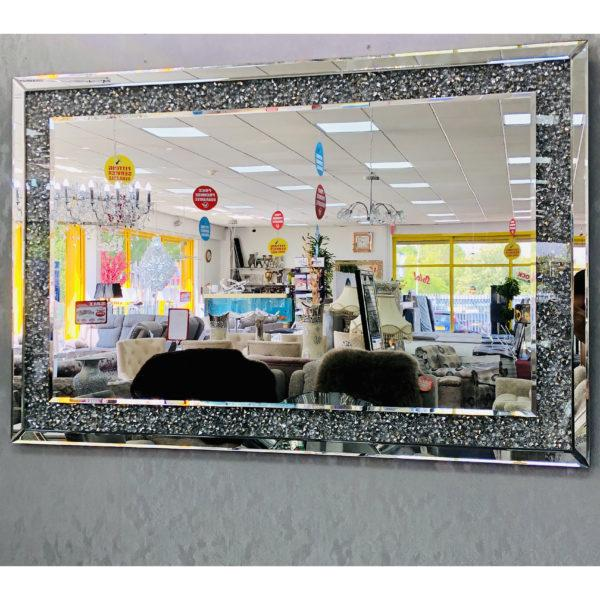 Crushed Diamond Wall Mirror 80/120 - Furniture Imports LTD