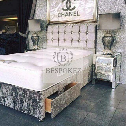 Chanel Headboard Wall Mount Tuffed Headboard  Available in single double king and queen size