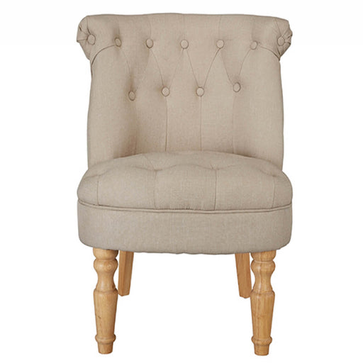 CHARLOTTE 'BOUDOIR STYLE CHAIR - SINGLE LINEN DUCK EGG OR BEIGE