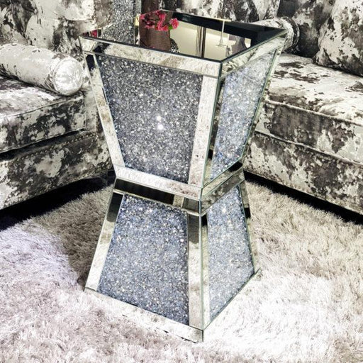 Crushed Diamond Column/Lamp Table - Furniture Imports LTD