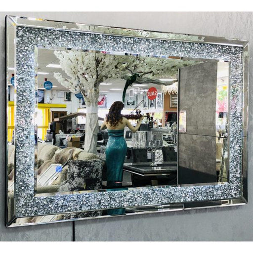 Crushed Diamond LED Wall Mirror 70/100 - Furniture Imports LTD