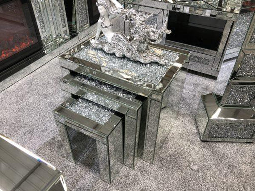 Crushed Diamond Nest of Tables - Furniture Imports LTD
