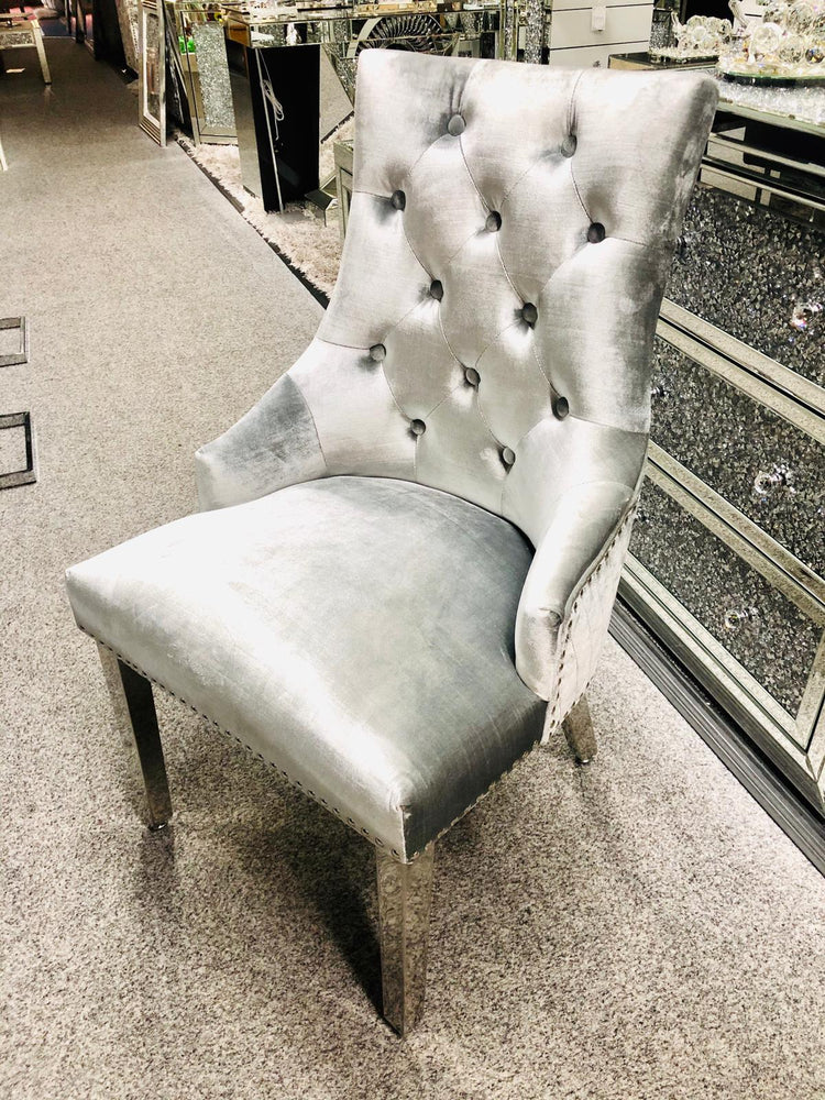Majestic Pewter Velvet Dining Chair - Furniture Imports LTD