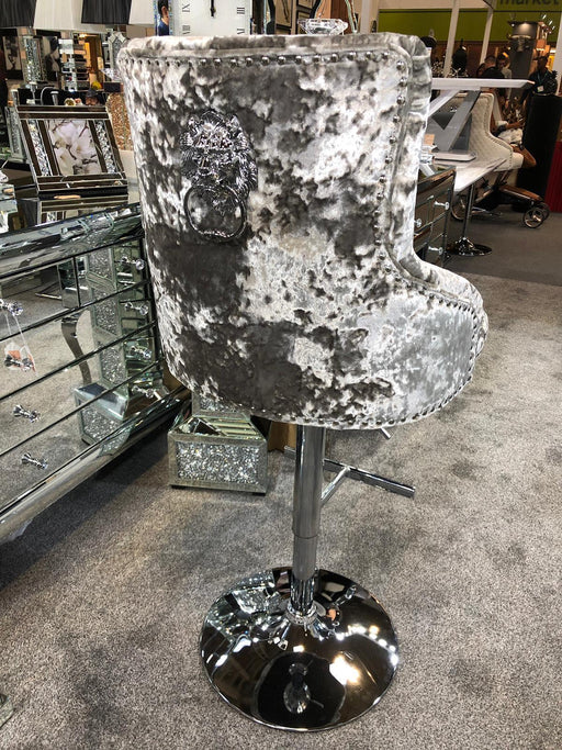Aries Double Crushed Velvet Barstool