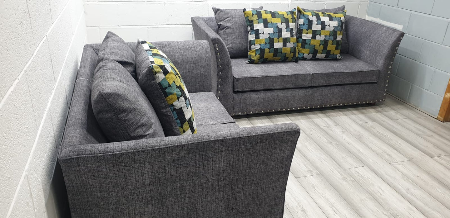 MAYA DARK GREY FABRIC SOFA RANGE