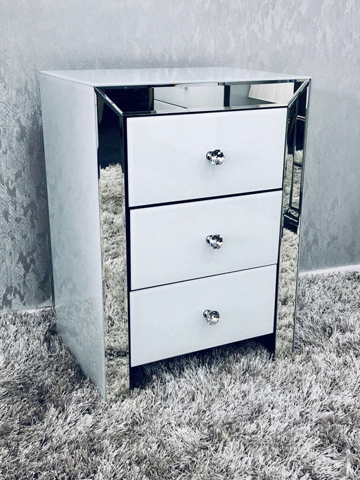 London White Bedside - Furniture Imports LTD