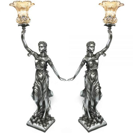Antique Victorian Bedside Lamp Set (Left & Right Hand) - Furniture Imports LTD